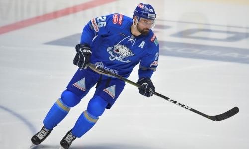 «Барыс» официально объявил о расторжении контракта с легионером