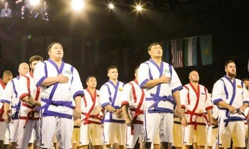 В Алматы стартовал абсолютный чемпионат мира по қазақ күресі