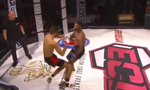 Бойцы MMA одновременно отправили друг друга в нокдаун, один остался в нокауте. Видео уникального момента