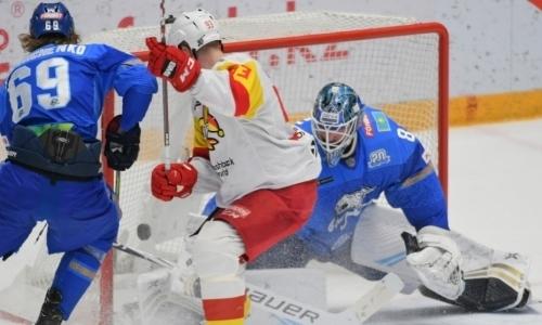 «Великан блеснул мастерством». КХЛ отметила главного героя встречи «Барыс»— «Йокерит»