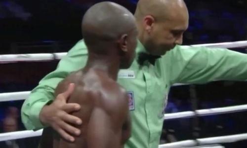 19-летний «Драго» парой убойных ударов нокаутировал африканца в андеркарде Руис — Джошуа. Видео