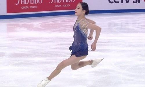 Впервые четверной прыжок исполнила фигуристка не из группы тренера Турсынбаевой. Видео