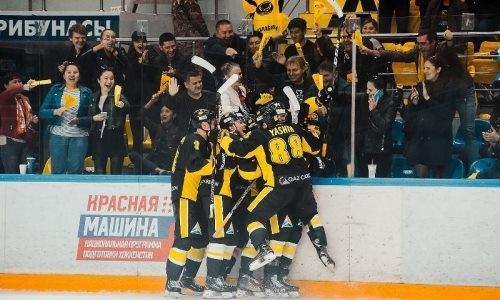 Вымучили. «Сарыарка» одолела в серии буллитов «Торпедо-Горький» в матче ВХЛ