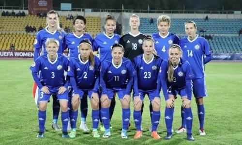 Женская сборная Казахстана не изменила своего положения в рейтинге ФИФА