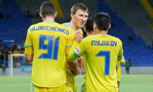 Два футболиста вошли в ТОП-8 игроков «Астаны» по количеству игр в КПЛ