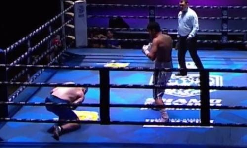 Видео крутого возвращения, или Как казахстанец «Адай» отправил в нокдаун и нокаутировал россиянина в первом раунде