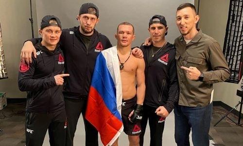 Российский боец казахстанского менеджера чуть неподрался за кулисами турнира сэкс-чемпионом UFC. Видео