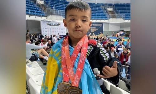 Семилетний казахстанец выиграл два «золота» на международном турнире по джиу-джитсу в Москве