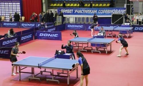 Республиканский чемпионат по настольному теннису проходит в Караганде