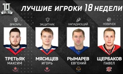Хоккеист сборной Казахстана признан лучшим нападающим недели ВХЛ