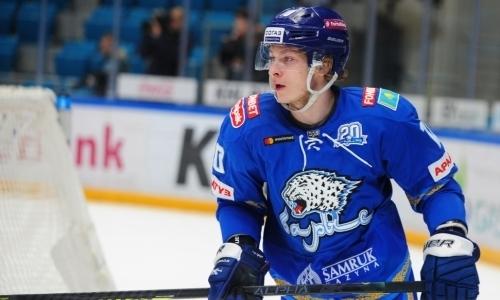 Хоккеист «Барыса» и сборной Казахстана признан лучшим нападающим недели КХЛ