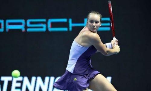 20-летняя казахстанка Рыбакина вышла в 1/4 финала турнира в Санкт-Петербурге