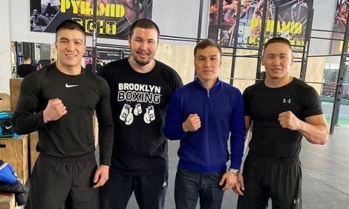 Батыр Джукембаев навестил боксеров MTK Kazakhstan в Алматы