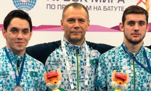 Казахстанские атлеты стали третьими на этапе Кубка мира по батутной гимнастике в Баку