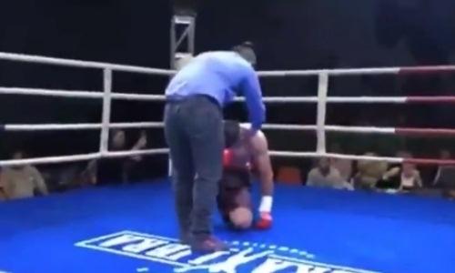 Дравшийся в Казахстане небитый южноамериканец убийственным ударом нокаутировал соперника. Видео