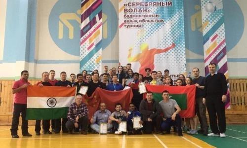Бадминтонисты из пяти стран состязались в открытом турнире Акмолинской области