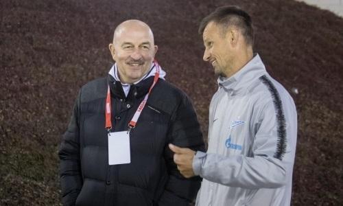 Черчесов, Семак и Тимощук посетили товарищеский матч «Кайрат» — «Рубин»