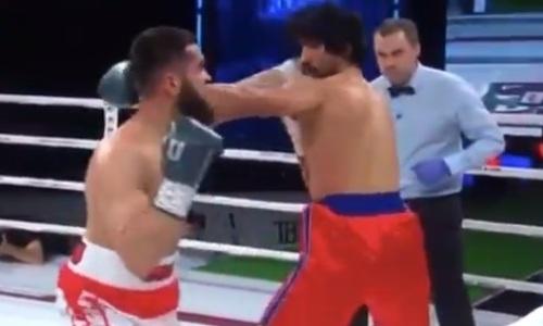 Призера чемпионата Азии из Казахстана трижды отправили в нокдаун и нокаутировали в России