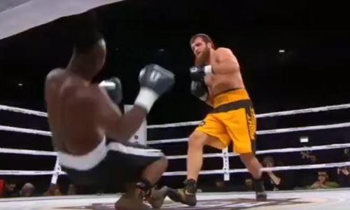 Экс-боец UFC брутально нокаутировал африканца на 58 секунде боксерского поединка. Видео
