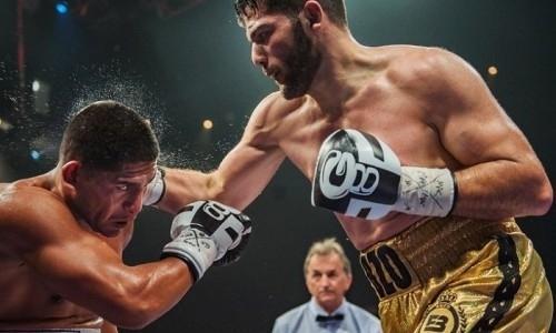 Непобежденный одноклубник казахстанских боксеров нокаутировал экс-претендента на титулы WBA и WBO. Видео