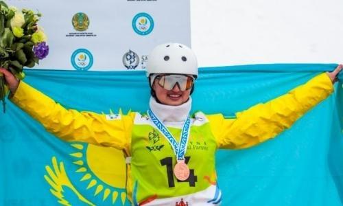 «Невероятная поддержка». Казахстанская фристайлистка прокомментировала «бронзу» этапа Кубка мира в Алматы