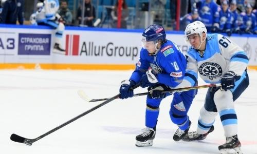 Стартовал первый матч серии «Барыса» с «Сибирью» в виртуальном плей-офф КХЛ