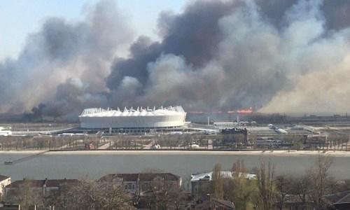 ВРостове-на-Дону локализовали крупный ландшафтный пожар