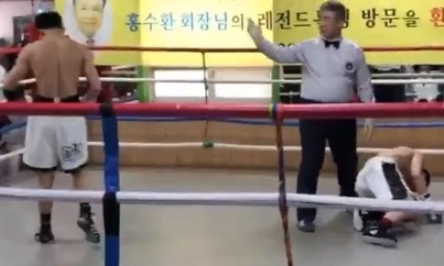 Бывший чемпион WBA пушечным ударом заставил соперника корчиться от боли. Видео тяжелого нокаута