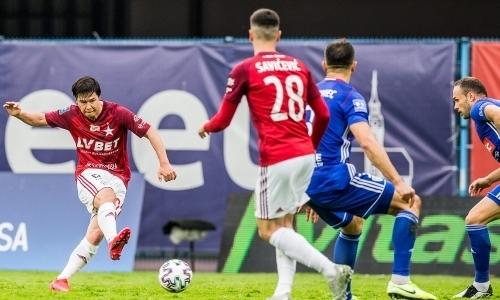 В сети появилось видео роковой ошибки футболиста сборной Казахстана в европейском чемпионате