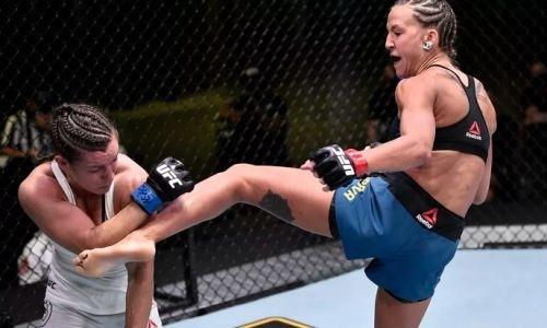 Первая казахстанка в истории UFC прокомментировала дебютную победу и бросила вызов следующей сопернице