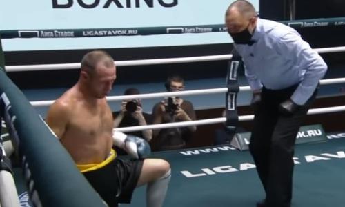 Бывший чемпион WBA нокаутировал уроженца Казахстана мощным ударом по печени. Видео