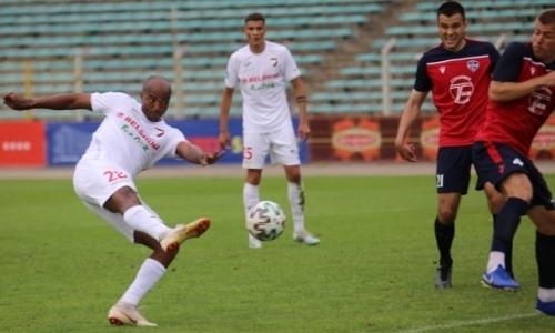 Экс-форвард «Атырау» вышел на замену и забил важный гол в матче чемпионата Беларуси. Видео