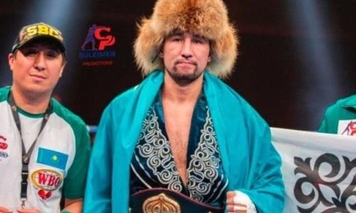 Казахстанец Айдос Ербосынулы побил бывшего чемпиона WBA в бою за три титула с двумя нокдаунами