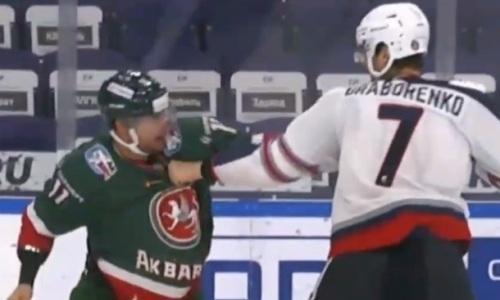 Соперники «Барыса» по конференции КХЛ устроили драку еще до старта сезона. Видео