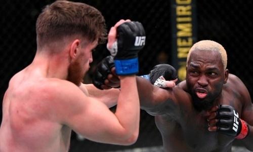 Видео полного боя UFC Дерек Брансон — Эдмен Шахбазян с нокаутом в третьем раунде