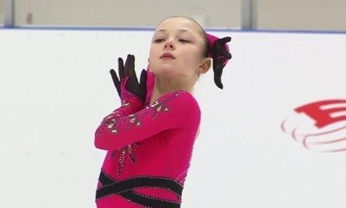 13-летняя российская фигуристка исполнила коронный прыжок Турсынбаевой на тренировке. Видео