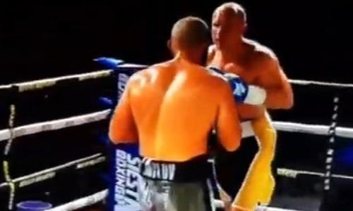 Дравшийся с чемпионом мира украинец решил отбивать удары лицом. Видео нокаута