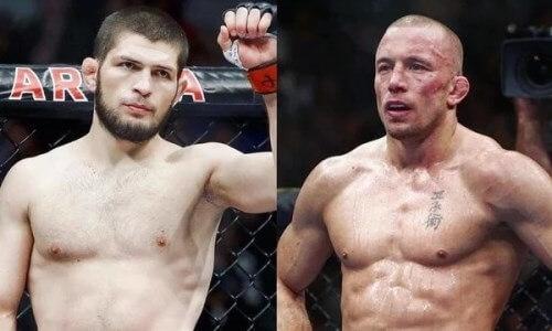 «Окажется на полу». Экс-чемпион UFC уверен в победителе боя Хабиб — Сен-Пьер