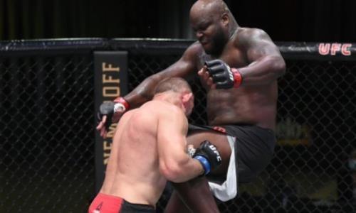 Видео жесткого нокаута серией мощных ударов в поединке UFC Олейник — Льюис