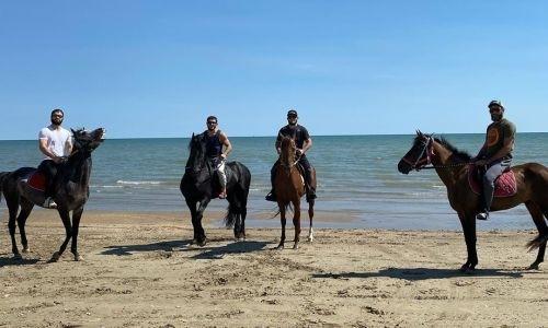 Хабиб Нурмагомедов опубликовал кадры с прогулки на лошадях