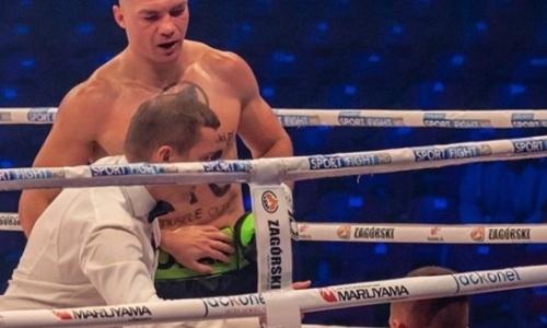 Нокаутированный экс-боксером «Астана Арланс» тяжеловес выкинул соперника с 57 боями за канаты. Видео