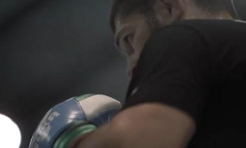 Хабиб Нурмагомедов показал работу на лапах в замедленной съёмке