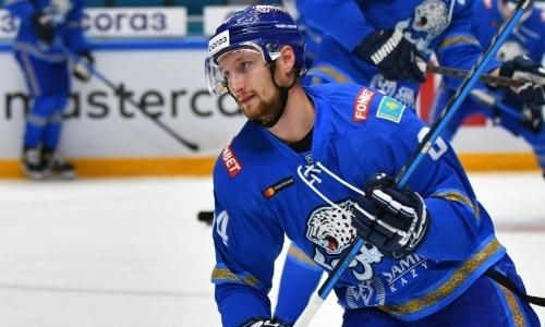 «Знает толк». «Барыс» отметил удивительную способность своего форварда в матчах КХЛ