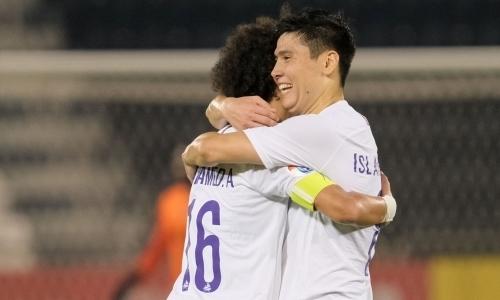 Исламхан показал, как чувствует себя после роскошного гола команде Хави в Лиге Чемпионов. Фото
