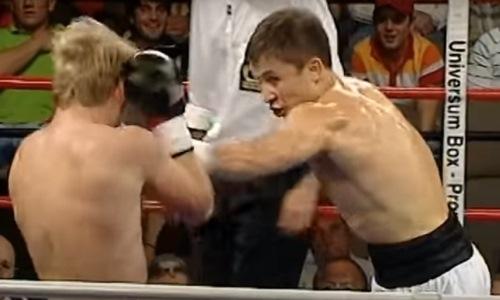 «Ничего не вижу, он плывет весь». 14 лет назад Головкин заставил сдаться боксера-лузера. Видео