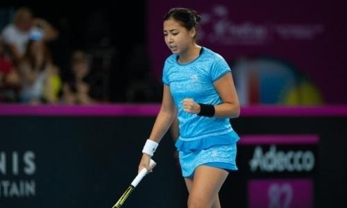 WTA признала Зарину Дияс автором лучшего удара дня на турнире во Франции. Видео