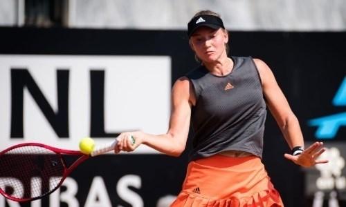 Первая ракетка Казахстана вышла в четвертьфинал турнира WTA в Страсбурге