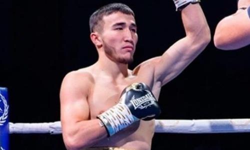 Двукратный вице-чемпион Казахстана нокаутом одержал четвертую победу в профи