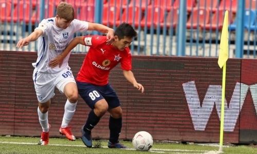 Российский клуб с 20-летним казахстанцем в составе проиграл сопернику из Москвы