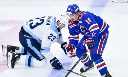Клуб КХЛ разгромил СКА и догнал «Барыс» в таблице Восточной конференции. Видео